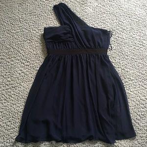 Vince Camuto be Shoulder Navy Formal dress sz 12